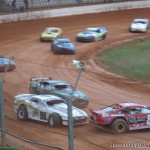 Saloon Car pile up at Baypark Speedway