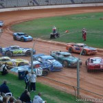 Saloon Car pileup at Baypark Speedway